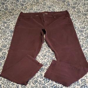 Maurices DenimFlex Sz 20 Purple Jeggings Jeans